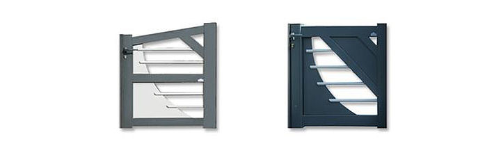 La bicoloration des portails design Texas