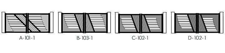 Les modèles de portails alu design Texas