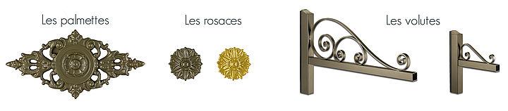Rosaces portail alu Elegance Contraste